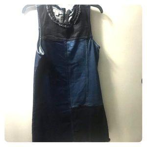 Calvin Klein jeans mixed denim mini dress